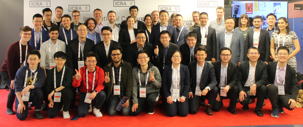 University Robotics Institute at ICRA 2019. Photo courtesy Xiaoyu Zhu.