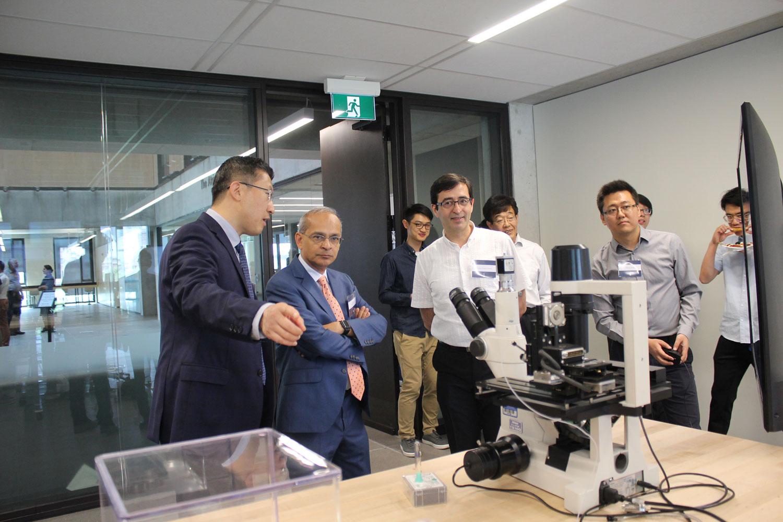 Profs. Yu Sun, Vivek Goel and Ramin Farnood at the Robotics Institute launch, May 25, 2019. Photo courtesy Xiaoyu Zhu.