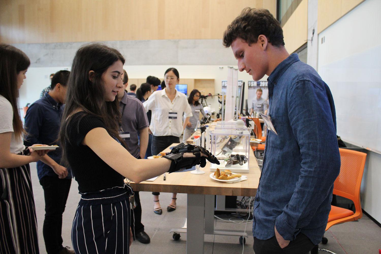 HERO Glove demonstration at the Robotics Institute launch, May 25, 2019. Photo courtesy Xiaoyu Zhu.