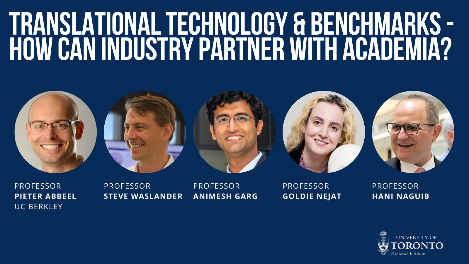 Translational Technology & Benchmarks - How Can Industry Partner With Academia